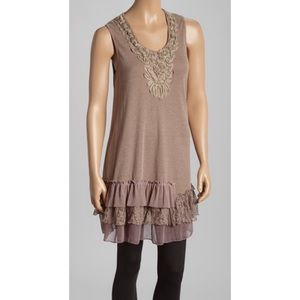 Pretty Angel Embellished Ruffle Silk Blend Tunic